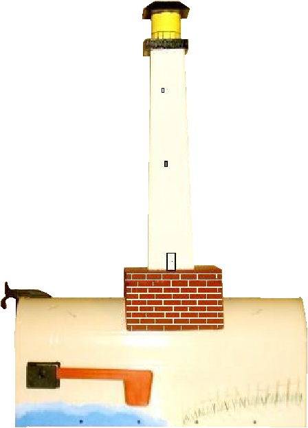 LIghthouse Mailbox, Light house mailbox