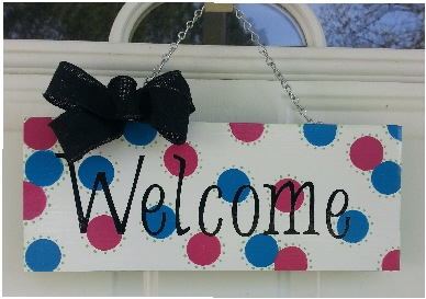 Welcome door hanger